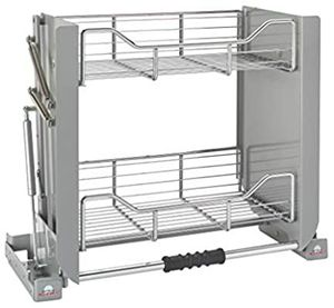 Rev-A-Shelf 5PD-24CRN Heavy-Duty 24-Inch Chrome Convenient 2-Tier Mounted Wall Cabinet Pull-Down Shelving for Sale in San Diego, CA