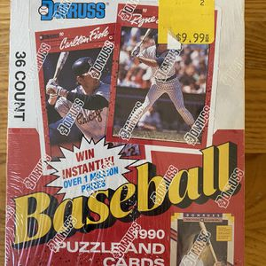 1990 Donruss Baseball Wax Box Factory Sealed Puzzle and Cards (36 Packs) for Sale in Huntington Beach, CA