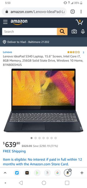 Brand new Lenovo laptop i7 for Sale in Fairfax, VA