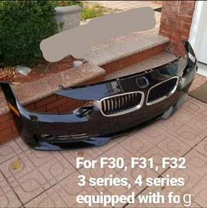 Bmw f30 2012-2015 Front bumper with PDC parking sensor holes and fog light housing. MISSING HEADLIGHT WASHER COVERS for Sale in Queens, NY