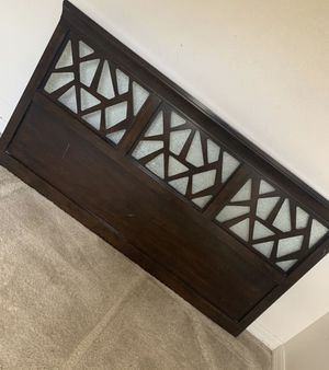 Solid wood queen headboard for Sale in Orlando, FL