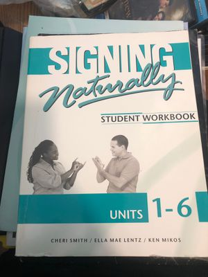 Signing Naturally Student Workbook Units 1-6 with DVD for Sale in Itasca, IL