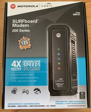 Motorola SURFboard Modem - SB6121 - DOCSIS 3.0 for Sale in San Jose, CA