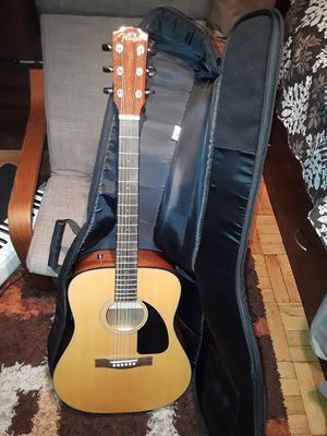 Fender acoustic guitar with BIG Bag for Sale in Brooklyn, NY