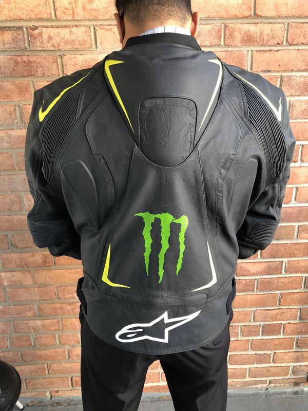 Alpinestar Monster Energy Motorbike Leather Jacket 3XL