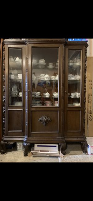 Antique Display Cabinet from Germany for Sale in Puyallup, WA