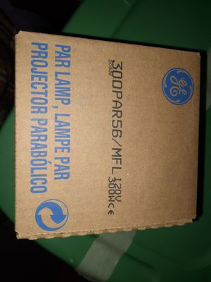 Quantity 8 brand new GE 300w. Par56 lamps 4 stage lighting. for Sale in Chickamauga, GA