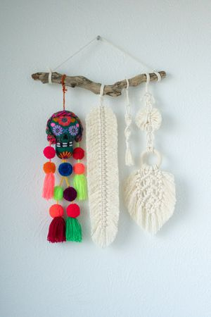 Skull wall hanging macrame for Sale in Dallas, TX
