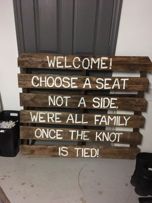 Wedding pallet sign for Sale in Pittsburgh, PA