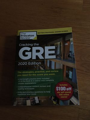 2020 GRE Princeton review guide for Sale in Alexandria, VA