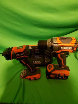 RIDGID GEN5X BRUSHLESS DRILL & BATTERY & CHARGER & FLASHLIGHT for Sale in Beaumont, CA