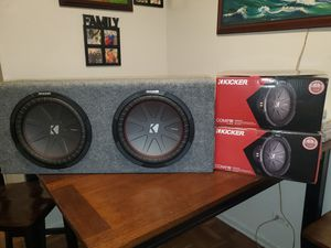 12INCH KICKER COMP R 2000WATTS MAX SUBWOOFER WITH BOX for Sale in The Bronx, NY