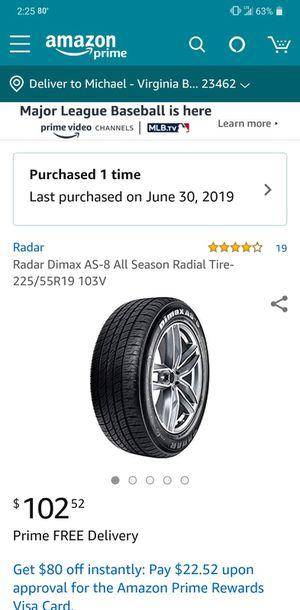 4 brand new 225/55R19 103v tires for Sale in Virginia Beach, VA
