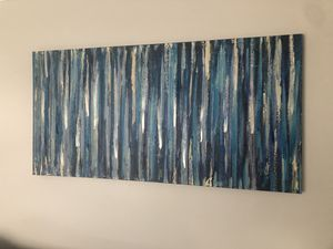 Blue Abstract canvas art for Sale in Alexandria, VA