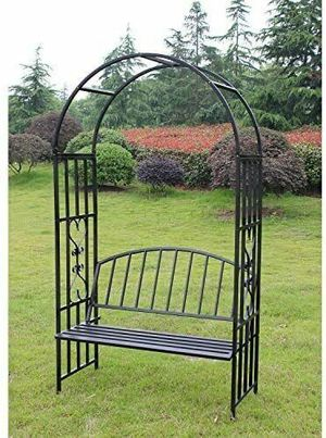 Outdoor Arch with Bench Seat For Climbing Plant For Wedding Garden Decoration Yard for Sale in Santa Clarita, CA