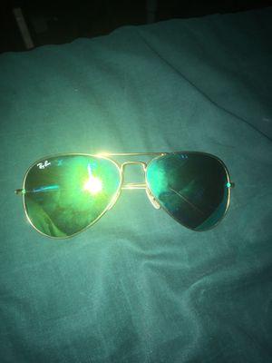 ray bans gold and green sunglasses for Sale in Santa Clara, CA