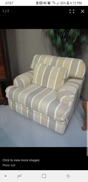Large Striped Chair with Ottoman for Sale in Phoenix, AZ