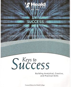 Keys to Success: Building Analytical, Creative, and Practical Skills, Custom Edition for Heald College for Sale in Sacramento, CA