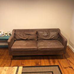 West Elm Leather Loveseat for Sale in Doylestown,  PA