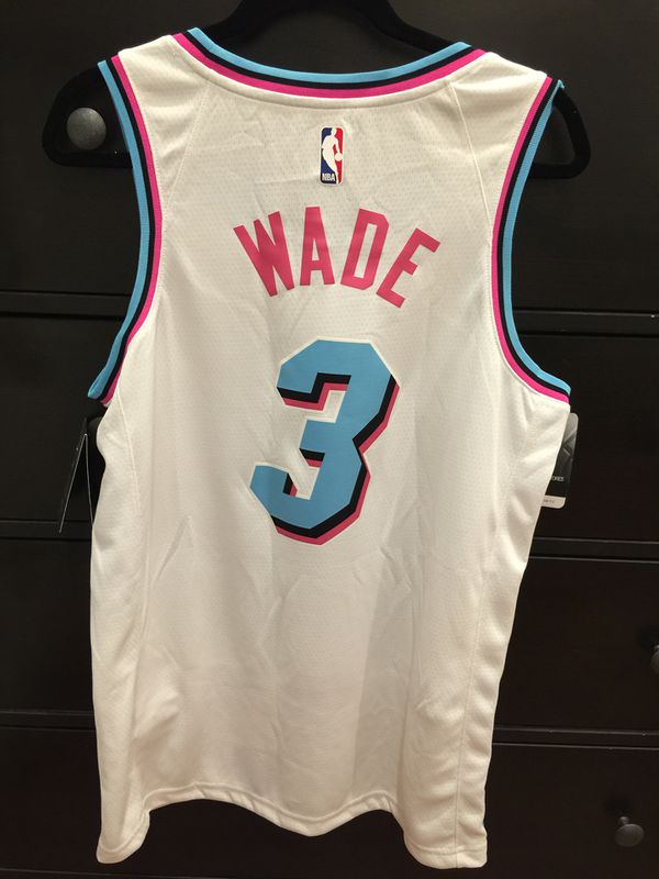 1bb47a1a1 Dwyane Wade Miami Vice Limited Edition Heat Nike Swingman Jersey for ...