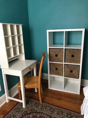White Desk & Shelving Unit for Sale in Washington, DC