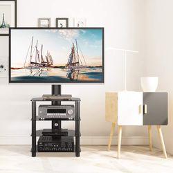 Corner TV Stand with Swivel Mount 4-Tiers Media Shelf Height Adjustable Bracket for 32 37 40 42 45 47 50 55 65 inch TVs for Sale in Ontario,  CA