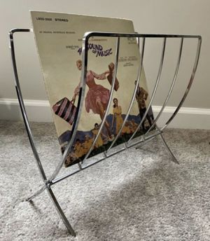 Vintage Mid Century Modern MCM Chrome Folding Record Magazine Rack for Sale in Chapel Hill, NC