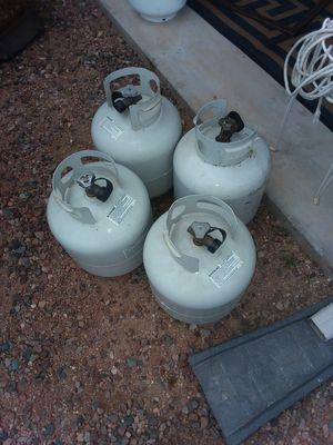 5 gal full propane bottles 38.00 each for Sale in Tonto Basin, AZ