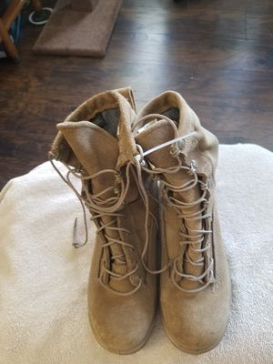 Ladies combat tan leather boots size 6.5 for Sale in Oklahoma City, OK