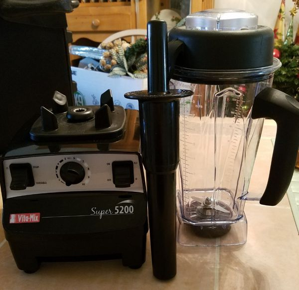 Vita-Mix Professional Blender Set Like New Condition Barely Used w/ 2nd Container New Unused for Dry Use: Full Set w/ Book & DVD