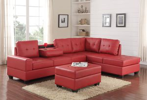 New red sectional with ottoman for Sale in Houston, TX