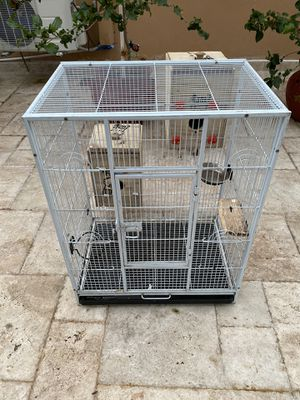 Large Bird Cage W/ two Nest Box for Sale in Medley, FL