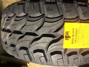 BRAND NEW 33 1250 20 Mud Terrain tires for only $200 each with FREE INSTALL!!! for Sale in Lakewood, WA
