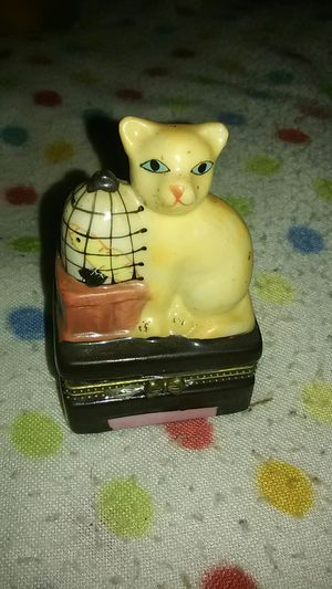 Small Cat Trinket Box for Sale in Little Egg Harbor Township, NJ