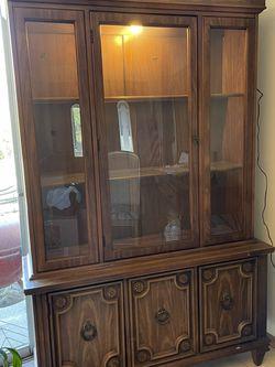 "Antique Walnut ""Curio"" China Cabinet for Sale in Hacienda Heights,  CA"