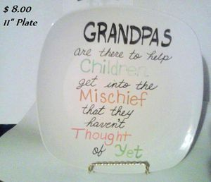 """11"""" Hand Painted Plate w/metal stand for Sale in Lakeland, FL"""