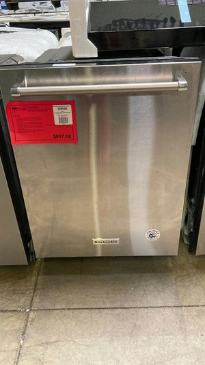 dishwasher with clean water wash system stainless steel KitchenAid. One year manufacturers warranty for Sale in Chandler, AZ