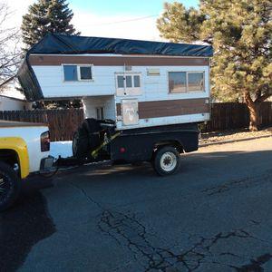 Cab Over Camper On Converted 3/4 Ton Truck Bed for Sale in Denver, CO