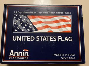 Brand new sealed in box American Nyl-Glo Flag 5ft x 8ft Nylon By Annin USA United States 70% off !! Retails $50 w/tax for Sale in Oakland Park, FL