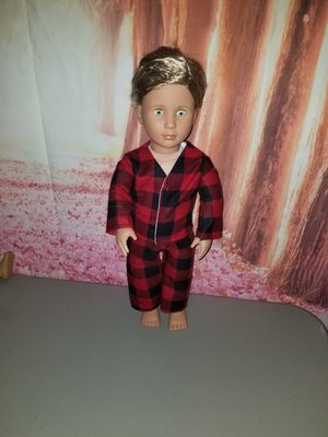 Buffalo Plaid doll pjs fit American girl for Sale in VT, US