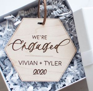Engaged Ornament - Hand Lettering Calligraphy Gift for Sale in South El Monte, CA
