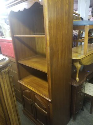 Two matching bookshelves with glass shelf $50 each for Sale in Carnegie, PA