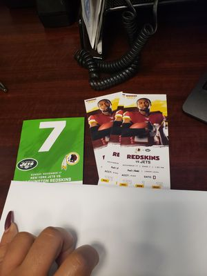 Redskins vs NY Jets for Sale in Manassas Park, VA