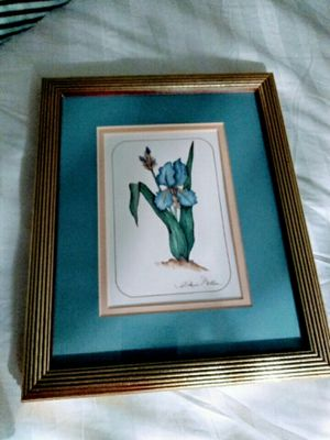 Artist A. Renee Dollar Lovely Blue Orchid Vintage Framed for Sale in Chicago, IL