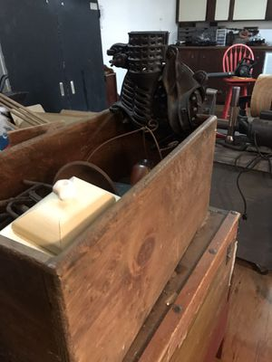 Corn sheller with wooden box for Sale in Port Wentworth, GA