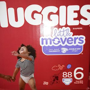 Huggies litter Movers Size 6 88 Diapers $33 for Sale in Los Angeles, CA