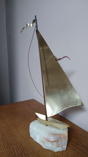 12 1/2 inches tall hand crafted ship decoration for Sale in Addison, IL