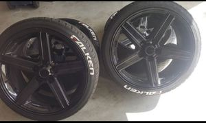22 inch rims and tires for Sale in Chula Vista, CA