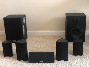 Polk audio 5 channel speakers in great condition + 2 Sony speakers SS-U3033 for Sale in Dulles, VA