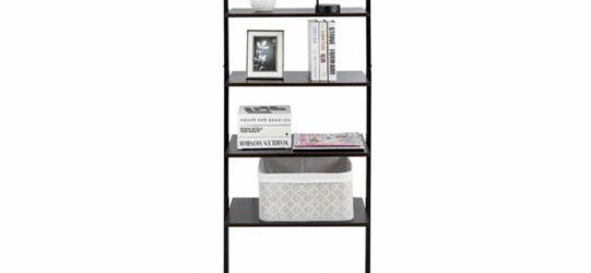 5-Tier Ladder Shelf Wood Wall Mounted Bookshelf W/Metal Frame Display Shelf New for Sale in Huntington Beach,  CA